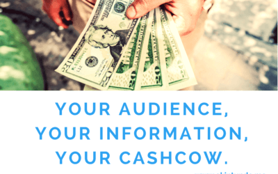 Your Audience, Your Information, Your CashCow.